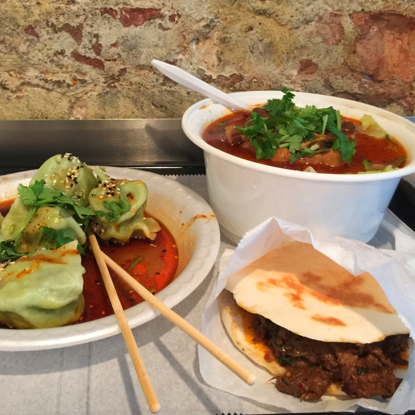 Full Time Explorer How to Spend a Day on the Upper East Side for under 30 dollars budget ues nyc new york city xi'an famous foods spinach dumplings ox tail soup curry lamb burger spicy