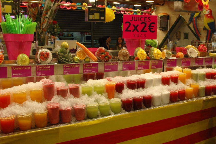 Things to do in Barcelona Spain Full Time Explorer La Boqueria Fruit Smoothies