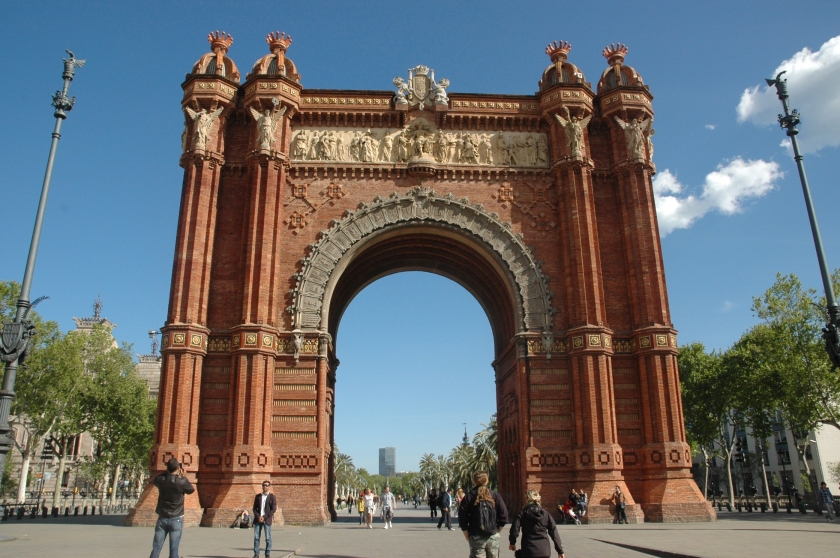 Things to do in Barcelona Spain Full Time Explorer Park Path Road Parc de la Ciutadella Archway Arch