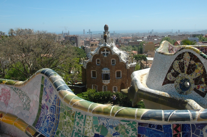 Things to do in Barcelona Spain Park Guell Full Time Explorer Mosaic House Bench View