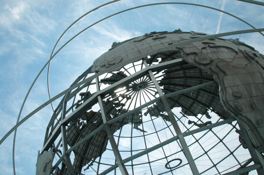 Things To Do in Flushing on a $30 a Day Budget corona park unisphere worlds fair 1964 nyc sculpture earth world