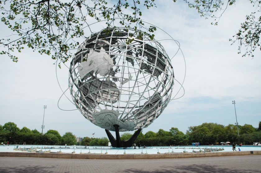 day on a dime flushing queens full time explorer travel new york city things to do unisphere worlds fair new york city queens sculpture world earth
